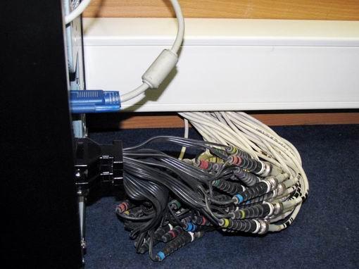 Типичный вид шлейфов на входе в ПК  без внешнего модуля оцифровки