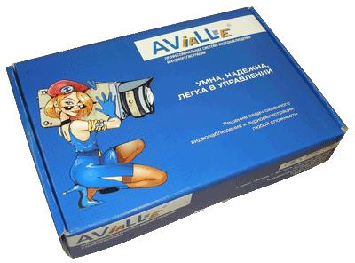 Упаковка системы видеонаблюдения AViaLLe